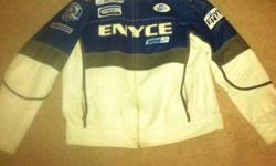 Blue and white jacket, made by Enyce, size XL, 90.00 obo This ad was posted with the Kijiji Classifieds app.