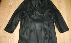 Ladies lined leather jacket. size 14-16
