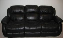 Selling a 3 Seat Leather Reclining Sofa and 1 Seat Leather Reclining Chair from a smoke free home, the reason for selling is we are removing my downstairs den and turning it into a playroom. You can get this in time for Thanksgiving to have a great spot
