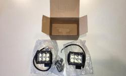 Brand new, very bright, durable and low draw lights are excellent for bikes a bit light in the illumination dept. These light also make you more visible to other motorists. I had one set on the WR I sold and they were great! Comes with a bracket you can