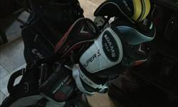 Left handed set of golf clubs and extra clubs as well. Two very nice Callaway bags included. Please call for more info.