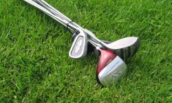 Northwestern full set left handed includes Intech AXT415 titanium driver, fairway, driver and 3, 5, 7 and 9 irons, putter All for $20