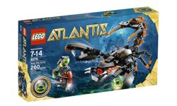 """Includes 1 diver minifigure with sea scooter equipped with dual harpoons and treasure key grab claw Guardian scorpion features flexible sting tail, snapping claws and biting jaws Guardian scorpion measures 14"""" (36 cm) long 260 LEGO pieces"""