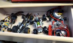 Lego Ninjago sets as seen in the pictures. Looks like about 5-6 different sets.