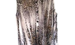 brand new Lord & Taylor leopard sleeveless blouse, size Small.