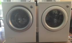 Front Load LG Washer & Dryer combo. Very clean inside and out. Both in great working order. Washer has minor glitch where door lock does not always engage when pressing start. Pressing stop and then start again engages lock. Call or text 250-619-8951. I