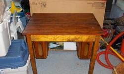 antique library desk, solid, 26 x 38 inches, good condition.