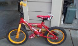 Very good first bike. No training wheels. Could do with a new seat and a new bell.