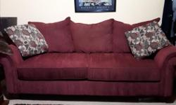 really nice couch for sale. moving. lori 2507319533 also childs couch 20, and cat stand 20.