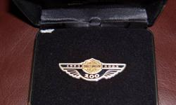 Limited Edition Harley-Davidson 100th Anniversary Logo Pin      Sterling Silver      Limited Edition