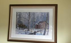"""""""Sugar Shanty"""" by Vic Gibbons is in good condition and will look great in any home. Signed by the artist and numbered 56/250, it measures 40"""" X 31"""". Asking $150.00. reply by e-mail, please."""