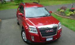 """Make GMC Model Terrain SLE-2 AWD Year 2013 Colour RED kms 31000 Trans Automatic INCLUDES THE 1SB PREFERRED EQUIPMENT GROUP - TWO PAGES OF OPTIONS IF REQUIRED. TO MENTION A FEW THERE IS AUDIO SYSTEM WITH TOUCH AND 7"""" INFORMATION SCREEN - REMOTE START -"""