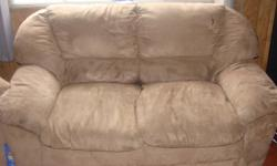 I have a love seat that iam selling for $100, It is a light brown. Still in good shape. Selling because i need more room in my living room if ur interested in thing please e-mail me or phone me  Grace at 250-561-7334 thanks for looking