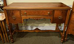Charmaine's Past and Present 1083 Fort st. (just before Cook) has wonderful antique, Mid-Century Modern, vintage and country furniture at great low prices. For example right now at Charmaine's you can get this lovely antique walnut writing desk for just