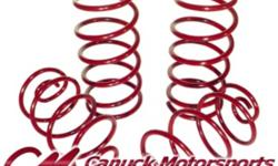 Locally made suspension springs for cars and trucks, lift and lowered. Starting at $120.00/set See our website www.canuckmotorsports.com or call 604-599-5433. Out of the area is toll free 1-877-599-5434. Canuck Motorsports stocks exceptional lowering and