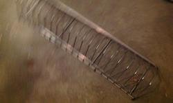 """Metal LP Rack 36"""" long Great collection holder."""