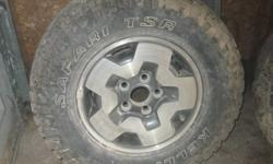 2 kelly safari LT 235 75 r15 tires mounted on 02 gmc jimmy aluminum rims. and 2 goodyear wranglers on matching rims kelly's are 2 months old in new condition. still have nubs on back. other two are 70 % tread. rims in good shape. call 519 630 1377 after 7