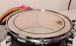 """Black 13"""" Ludwig Accent Snare drum Complete and works great for beginnner to intermediate player. Or use it for band practices, etc."""
