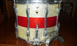 ludwig snare 12 x 15 ser#417413 sweet vintage marching snare needs rattle and bottom skin add this beast to your collection