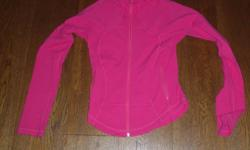 Lulu Lemon Zip Up Jacket, pink, size 4, good condition