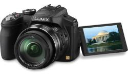 -Model # DMC-FZ200 -less than 1 year old -current new value is - $400-$500 depending where you go -THE GOOD-The Panasonic Lumix DMC-FZ200 has an excellent 25-600mm zoom lens; fast shooting performance, even when shooting in raw or raw plus JPEG; and