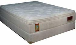 Queen Size Luxury Pillow Top Mattress. Still in original plastic. Left over from LARGE HOTEL ORDER.  Never used or slept on. and manufacturered in the last 7 days. ( 8 Available) Complete with 10 year warranty. 800 coils with a  3  inch Luxury Plush