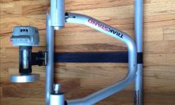 Selling a Blackburn Defender TrakStand Indoor Bicycle Trainer with 5 levels of magnetic resistance. Used for 3 years of triathlon training and has been gathering dust for awhile. Great for winter training or when you can't get out of the house for a ride.