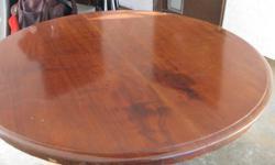 Solid Mahogany Folding Breakfast Table. 250-896-0954