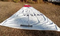 "**Price reduced $90 or best offer** This mainsail came off of a 16' Seaspray but will fit many small sailboats. In good condition with window. Rope in luff for in mast rigging. Approximately size Luff - 17' 10"" Leech - 19' 2"" Foot - 8' 6"" Any questions"
