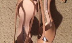 "size 39 1/2 tan leather pump in excellent condition 1 1/2"" heel"