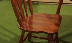 """Solid maple 'Vilas' dining table and set of four chairs, also an 18"""" leaf. In great condition, looking to sell quickly, will consider offers."""