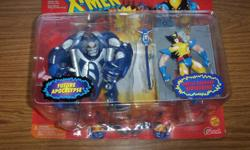 Incredible Hulk Collector's Clock $10. Apocalypse & Battle Wolverine Ltd Edition ( 6,000 made ) $50. Amazing Spider-man MicroMachine Set ( 1993 ) $25. Spider-man sticker set $7.50. X-men Steel Mutants - Juggernaut vs Cyclops ( 1994 ) made of die cast