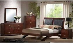 Same as in photo except mine is just the queen sized bed frame, 6 drawer wide dresser and the tall dresser, no mirror, and no night stand. Cost me close to triple asking price 6 months ago. I
