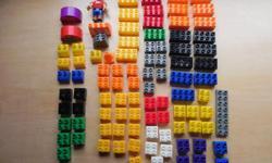 95 pieces of Mega Bloks. It looks like Duplo.