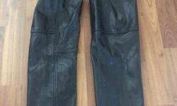 Men's leather chaps, size M-L.