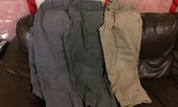 All Size 42x30 Wore for a month and lost a ton of weight so they no longer fit. No holes or rips. In new condition.