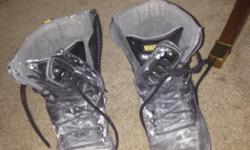 I have a pair of size 9 Dakota T-Max Steel toed boots. Great boot. Durable and comfortable. They have a really sweet zipper function on the side for easy take off. I only wore them for about a month doing some drywall. So the only thing is a bit of