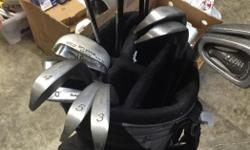 3-9 irons, SW,PW, putter, drivers and woods and bag Everything you need to play golf Possible trades, obo