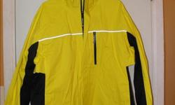 Novara yellow cycling jacket in Excellent condition. Worn only once. Zip pocket at back. Reflective.