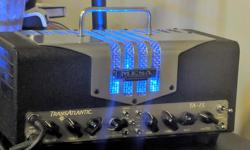 Mesa Boogie Transatlantic 15 head Switchable 5-25w (Class A/Class AB) 2 channels Footswitch Multiple voicings, inc. Vox AC, Fender Tweed, Marshall, Mesa Boogie Amazing amp. The 15w (Class A) or 25w (Class AB) settings are more than enough for a band
