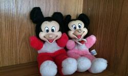 Mickey & Mickey Mouse stuffed dolls. $10 EACH Downsizing so getting rid of kids stuff Smoke free and pet free environment.