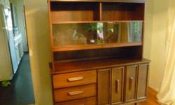 "1960's Mahogany Buffet . 50""L x17""D x60""H. Can deliver locally"