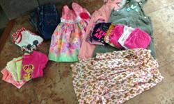 Sizes 3 & 4 girls clothing in good condition. Asking $35 for all. 2- snow pants (size 3 and size 4) Snow boots (size 7) Pink shoes (size 9) 3 dresses 2 overalls 6 long sleeve shirt 4 t-shirts 1 pajamas 2 pants ~~~~added footwear~~~~~