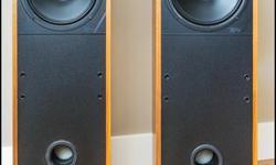 "2 Mission Model 764 Floor Speakers 34""H x 10""2 1 Acoustic Profiles PSL C20 Centre Speaker 19-1/8""W x 6-1/8""H"