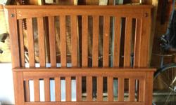 Complete Mission Style bed frame with Head and Foot boards. Some scratches, not real wood. $50 obo.
