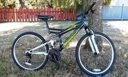 "Bike wheel size: 26"" Frame size:18"" Full Suspension 21 Speed"