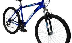 have sky blue mongoose 26 inch Mens frontier Mountain Bike for sale still in mint condition everything still works great the brake works front and back and the gears still work good its a good adult bike gets you from point A to B pretty fast only send