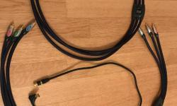 two four foot triple monster cables used for home theatre, etc in excellent condition
