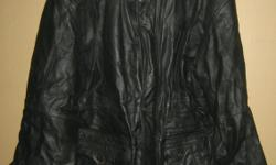 Moores Leather Coat - XL, like new (looks wrinkled from being stored) $80 604 800 2104