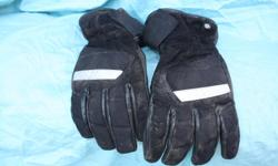 BMW large lined motorcycle gloves